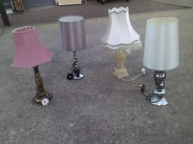 SELECTION OF 4 LAMP AND LAMP SHADE VERY NICE