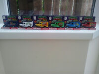a set of 6 collectible walkers monster munch vans still boxed and unused and ideal for a collector