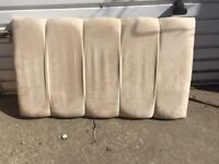 Single bed padded headboard