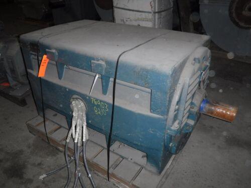 400 Hp General Electric Motor, 720 Rpm, 8210s Frame, Dp, 440 V, 1.15 Sf