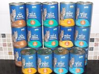 X19 - Assorted Tins of Cat Food (Pets at Home).