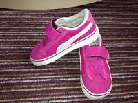 PUMA pink suede infant size 7 *Brand New*
