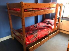 Thuka Maxi 3ft bunk bed – solid pine