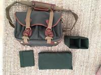 Billingham 335 Shoulder Camera Bag - Canvas & Leather - Sage FibreNyte / Tan