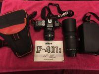 Nikkon F-401s camera + SIGMA Zoom Lens