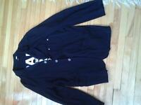 BRAND NEW J'S EXTE MADE IN ITALY XL BLACK JACKET VEST