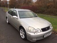 LEXUS GS300 AUTOMATIC W REG IN SILVER WITH GREY LEATHER,SERVICE HISTORY,MOT JULY , PETER 07867955762