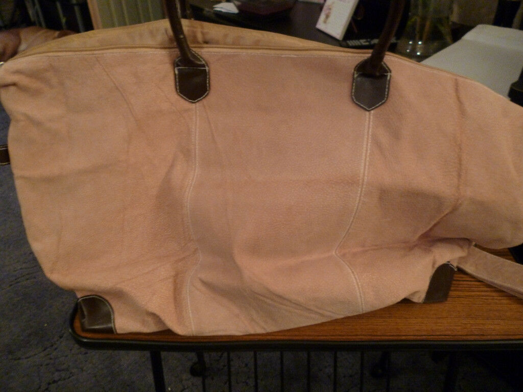 Suede Effect Large Bag