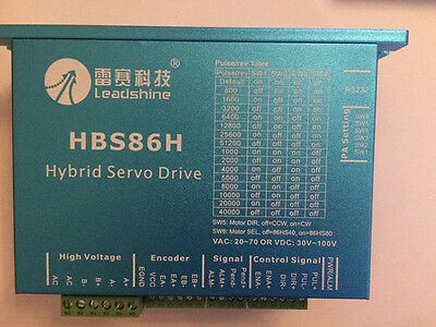 Nema34 2phase Closed Loop Motor Hybrid Servo Drive Hbs86h Leadshine 24-75vac