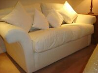 John Lewis Alana Two Seater Sofa with detachable Damask Covers.