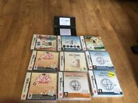 Nintendo dsi with 9 brain training games