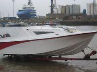 fibreglass pacific seasafe 550 pleasure boat