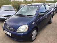 02 TOYOTA YARIS 5 DOOR HATCHBACK IN STUNNING NAVY METALLIC BLUE SOME SERVICE HISTORY CAME PX TODAY