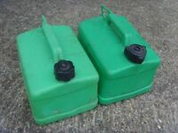 2x Petrol 5L Jerry Cans FREE DELIVERY