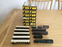 Model railway track and/or locomotives