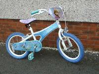 "Kids 16"" Disney Frozen bike - excellent condition"