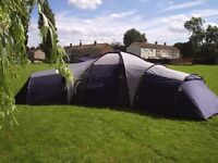 WYNSTER 12 MAN TENT Huge iside area and three bedroom sections.