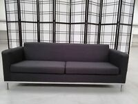 Light weight black, office reception sofa