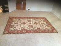John Lewis Rug - Living Treasures Ivory Rust - L251cm by W168cm Excellent Condition (2 Available)