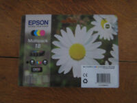 EPSON Multipack 18 consisting of a set of four new ink cartridges, purchased at Asda Weymouth 2017