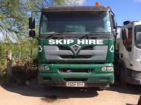 Skip lorry FOR SALE. 18 Ton Foden 2004