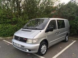 Mercedes Vito dualiner 7 seater 2003 2.2 Cdi turbo diesel fast release seats