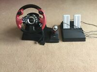 Logic 3 steering wheel with pedals, full working order