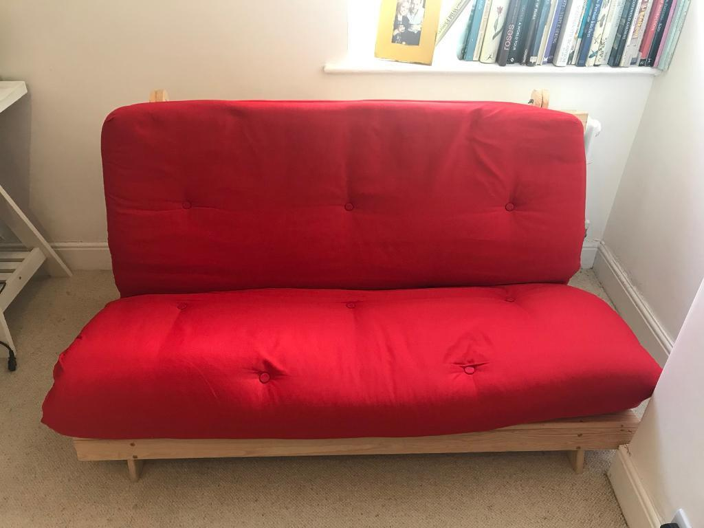 Red Futon Excellent Condition Oxford Company