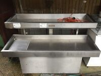 Stainless refrigerated two tier display unit (faulty)
