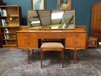 Dressing Table (Or Desk) with Stool By McIntosh of Kirkcaldy. Retro Vintage Mid Century 1960s