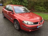 LAGUNA 2.0 DYNAMIQUE 55 REG IN FIRE RED WITH ONLY 68400 MILES,SERVICE HISTORY, MOT OCT 07867955763