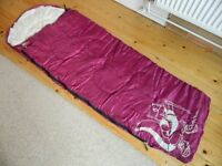 Junior / Child Size Sleeping Bag - Very Good Condition - Clean and Ready To Go