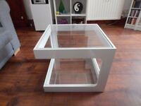 DWELL WHITE GLOSS GLASS COFFEE TABLE