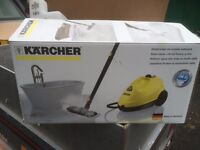 FLOOR STEAMER, HARDLY USED,ONCE OR TWICE, STILL IN ITS BOX