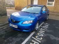 Mazda 3, Saloon, 1.6 Auto, Blue, Not VW Honda Vauxhall Hyundai Renault Astra Yaris Civic 1.4 Manual