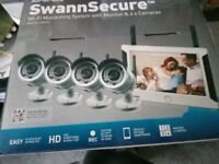 swann 470 security bundle monitor with 4 cable / wireless cameras