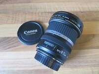 Canon ef-s 10-22mm f/3.5-4.5 USM camera lens, wide-angle (as new condition), with Hoya filter