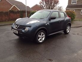NISSAN JUKE 1.6 16V VISIA 5 DOOR EXCELLENT CONDITION LOW MILES FULL SERVICE HISTORY AND MOT ETC.