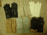 Gloves, leather, good condition, small /medium size