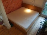 IKEA Malm Super King bed frame, Silent Night mattress & topper *£150* ONO
