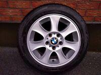 "BMW E87 1 Series 16"" Inch Alloy Wheel / 5mm Goodyear Tyre £30"