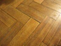 Sapele wood parquet flooring