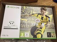 Microsoft Xbox One S FIFA 17 Bundle 1TB White Console - BNIB (UNWANTED GIFT)