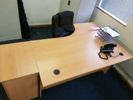 Office desk and 3 draw pedestal