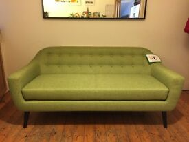 "NEW ""Made"" Ritchie 3 seater sofa in lime green"