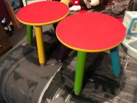 Two stools / pencil chairs