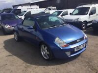 2003 FORD STREET KA CONVERTIBLE LONG MOT GOOD DRIVER AIR CON ALLOYS LEATHER SEATS ANYTRIAL PX WEKCOM
