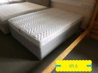 Grey double divan & mattress