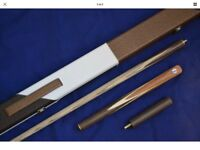 Handmade ash snooker cue with case New