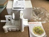Unused Spiraliser with 'Spiralise Now!' Book